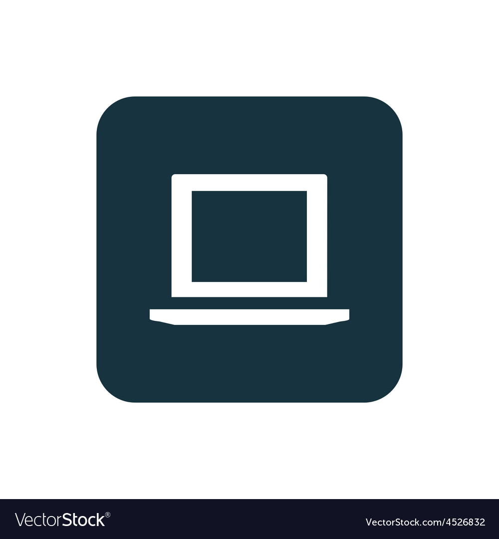 Laptop icon Rounded squares button vector image