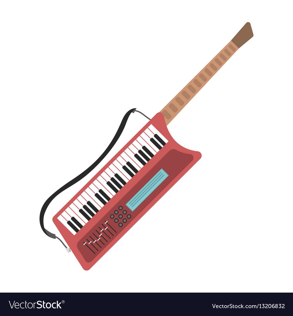 Music synthesizer guitar keyboard audio piano