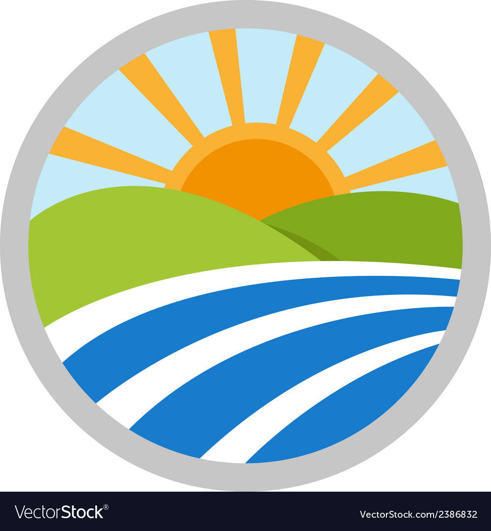 Natural landscape logo icon