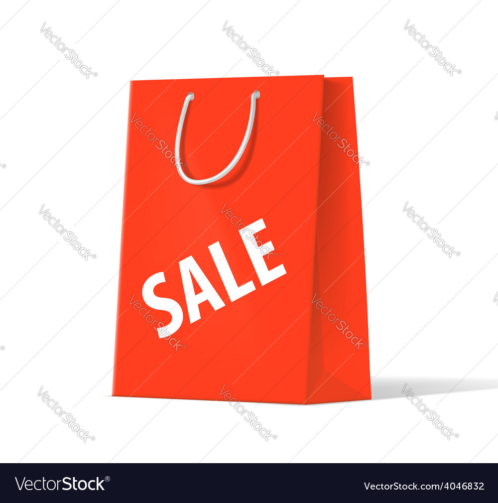 Shoplifting red handbag on a white background vector image