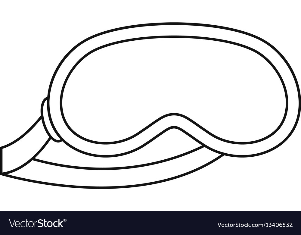 Sleeping mask icon outline style