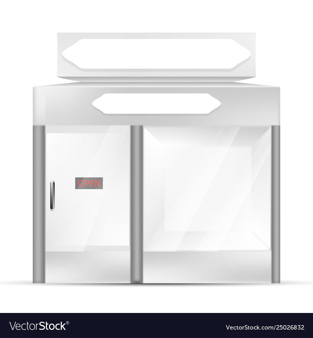 White gray pos poi outdoorindoor 3d shop or