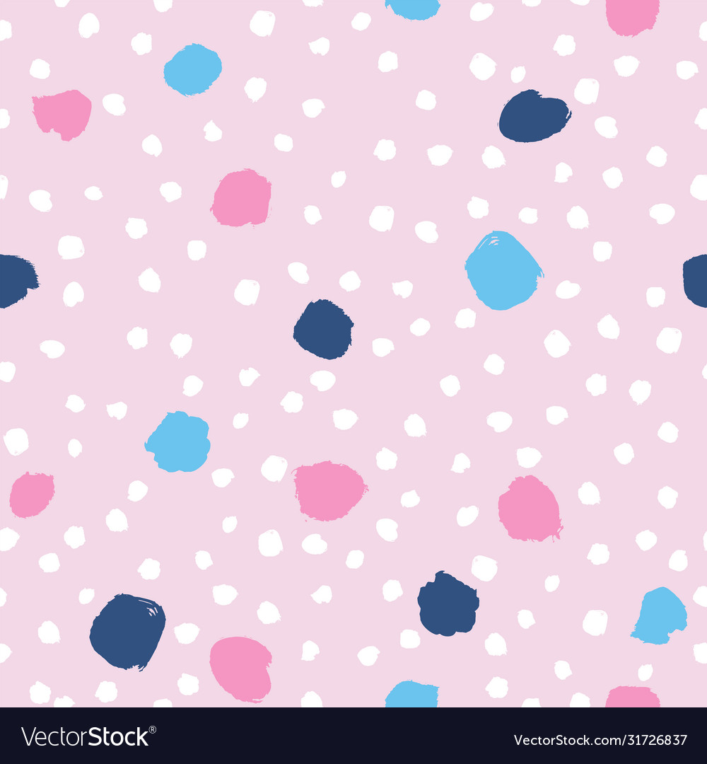 Abstract paint drops and dots seamless pattern