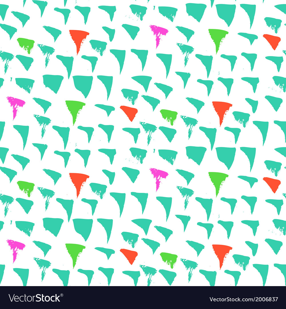 Grunge pattern with small drawn triangles