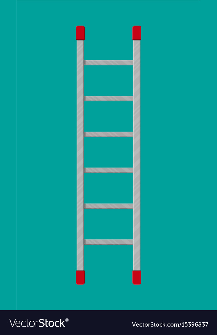 Metal ladder ector in flat style vector image