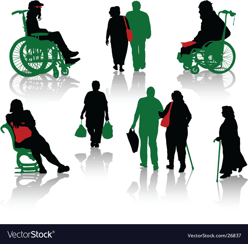 Old people vector image