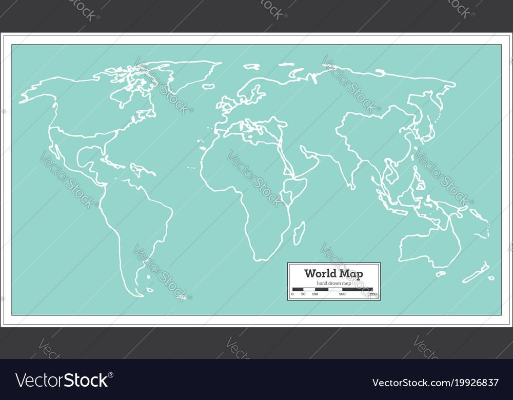 Retro world map royalty free vector image vectorstock retro world map vector image gumiabroncs Gallery