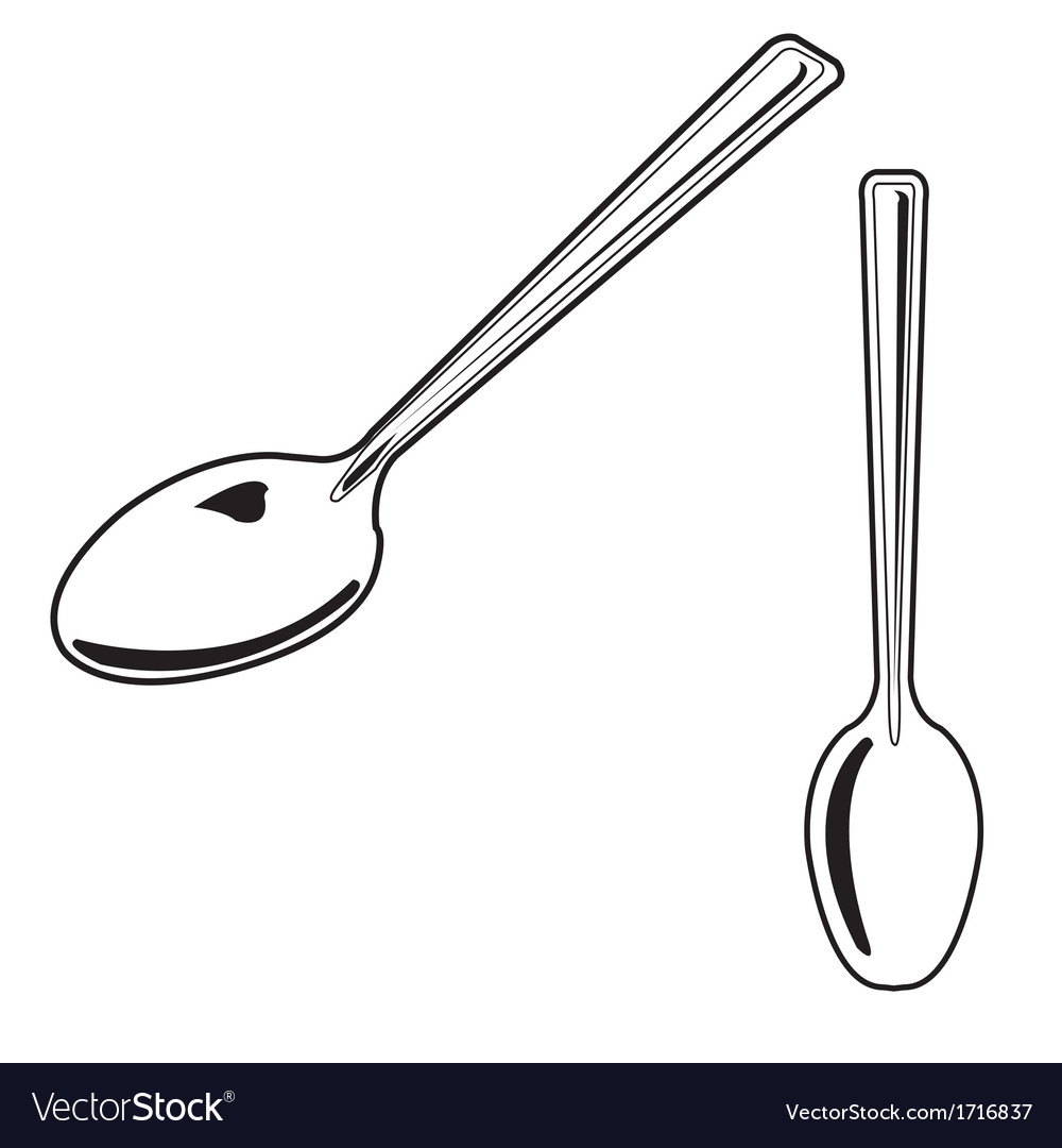 Spoon outline vector image