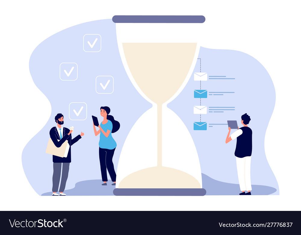Time management businessman assistants