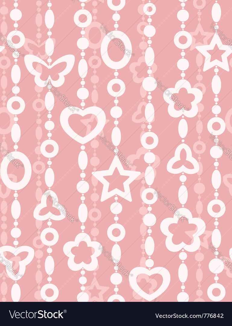 Abstract beads - seamless pattern