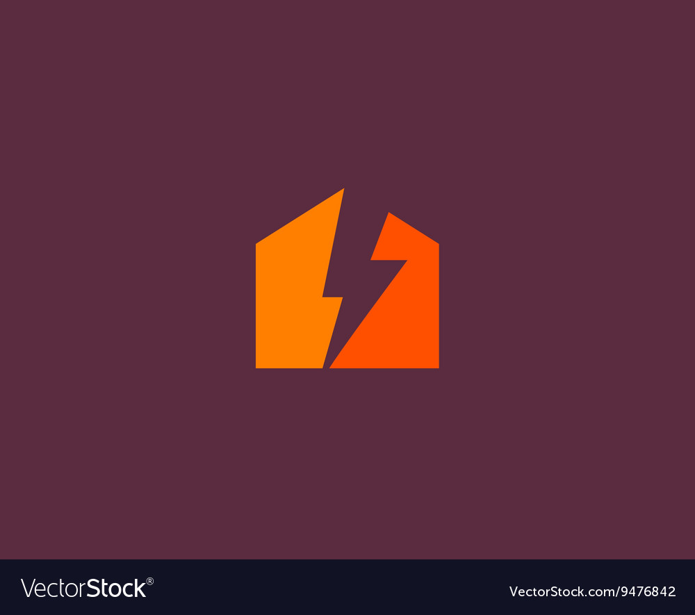 Abstract flash house logo design template