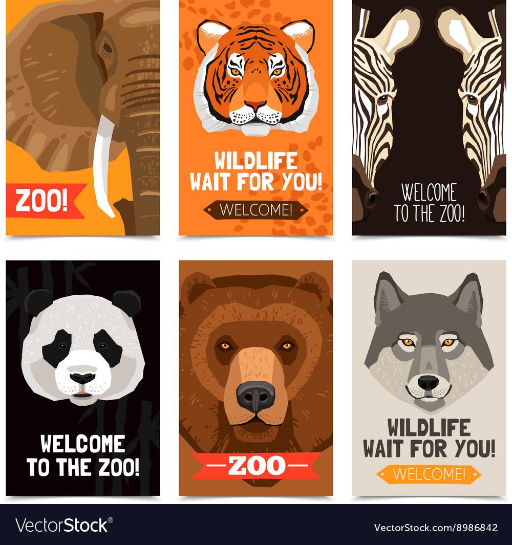 Animals Mini Posters Set vector image