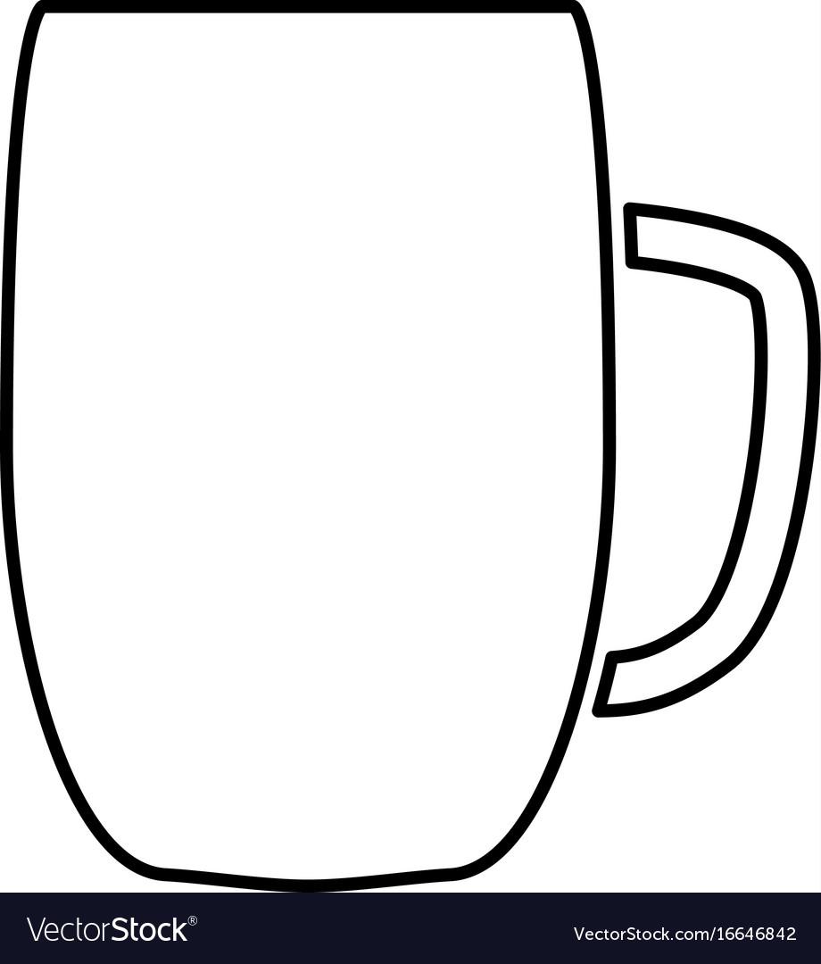 Beer mug black color icon