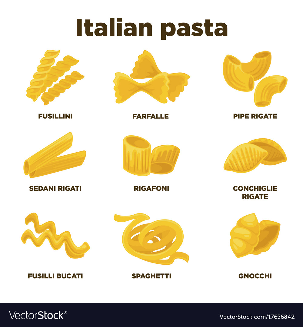 Pasta types with pictures