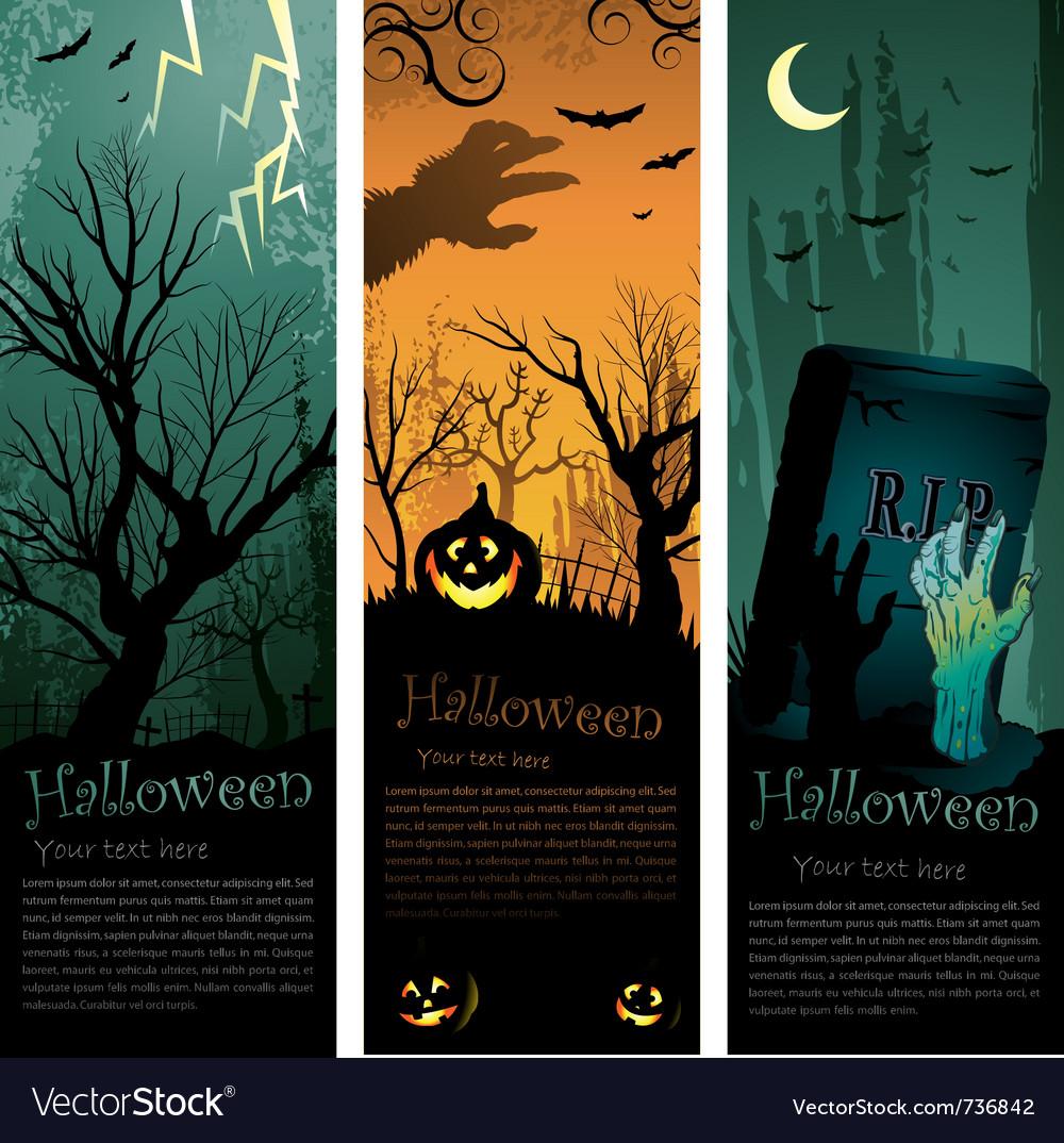 Halloweens vertical banners
