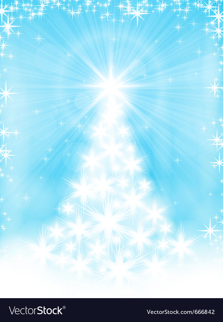 Light Blue Christmas Tree Background Royalty Free Vector