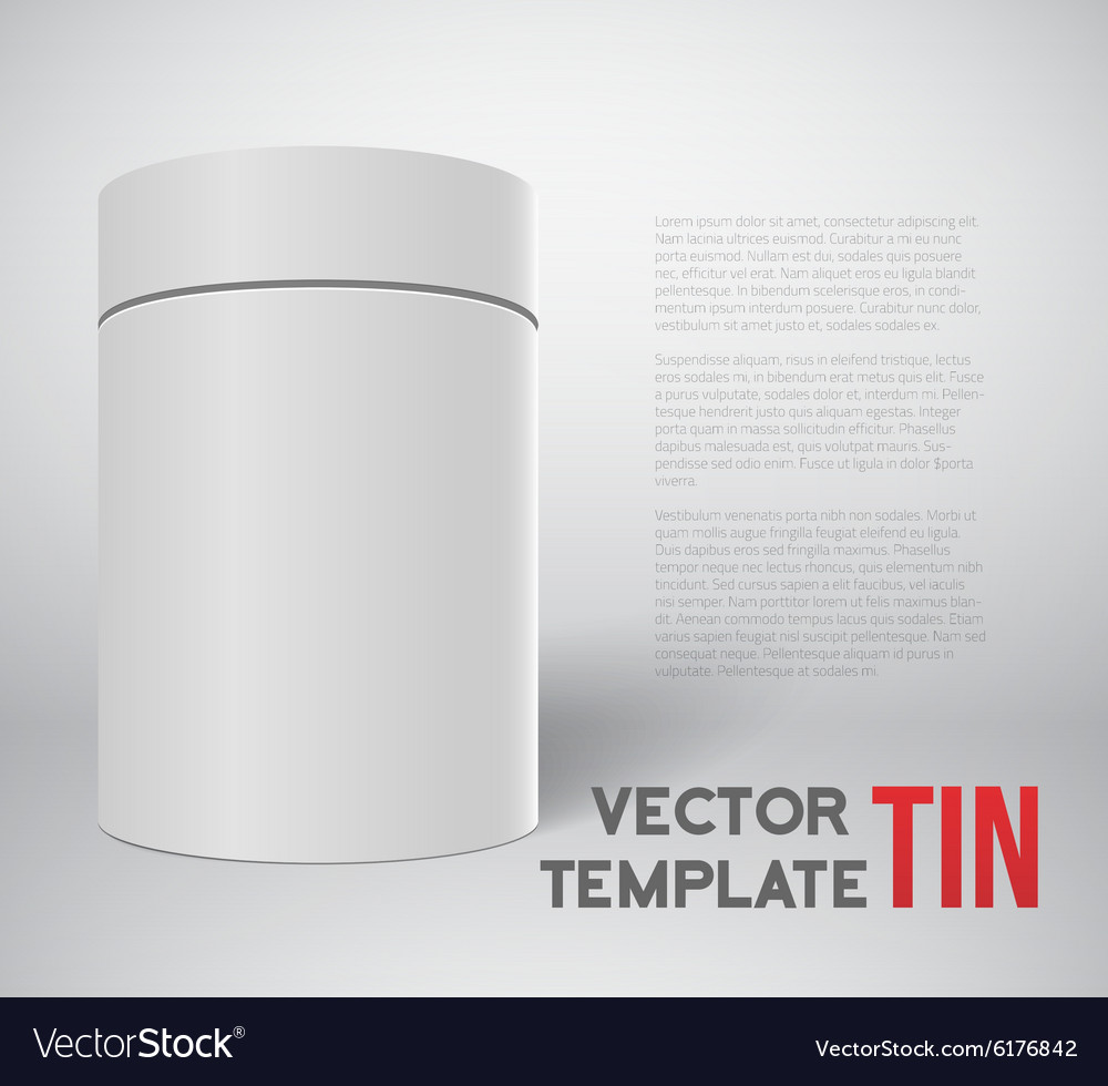 Realistic White Tin Can Template Isolated