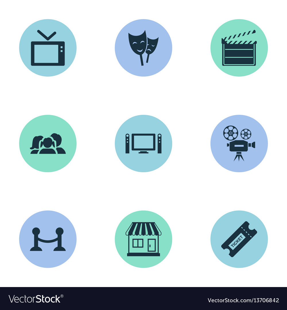 Set of simple film icons