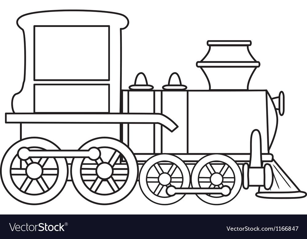 Cartoon Train Royalty Free Vector Image Vectorstock