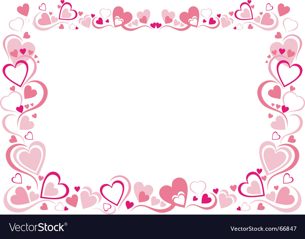 Heart frame Royalty Free Vector Image - VectorStock
