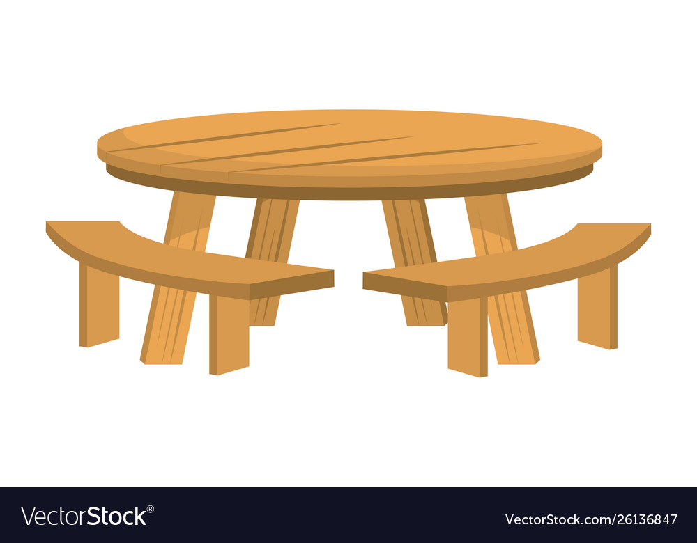 Surprising Isolated Wood Table And Bench Design Pabps2019 Chair Design Images Pabps2019Com