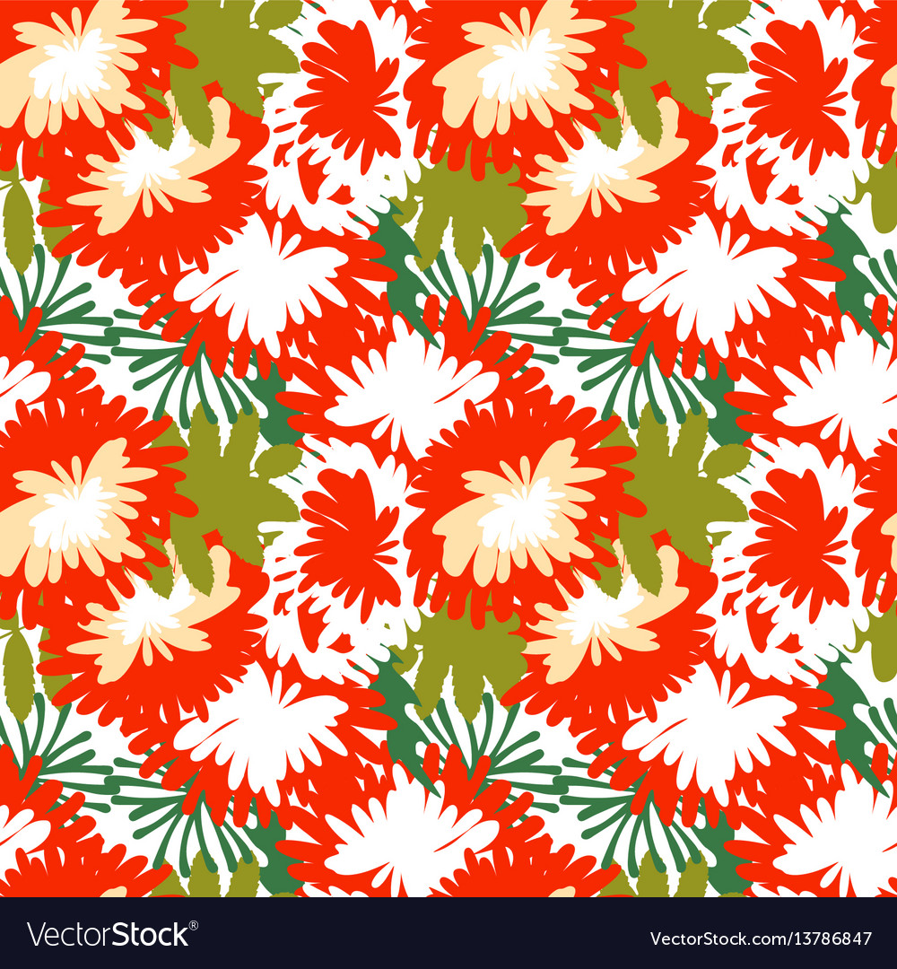 Mum flower background vector image