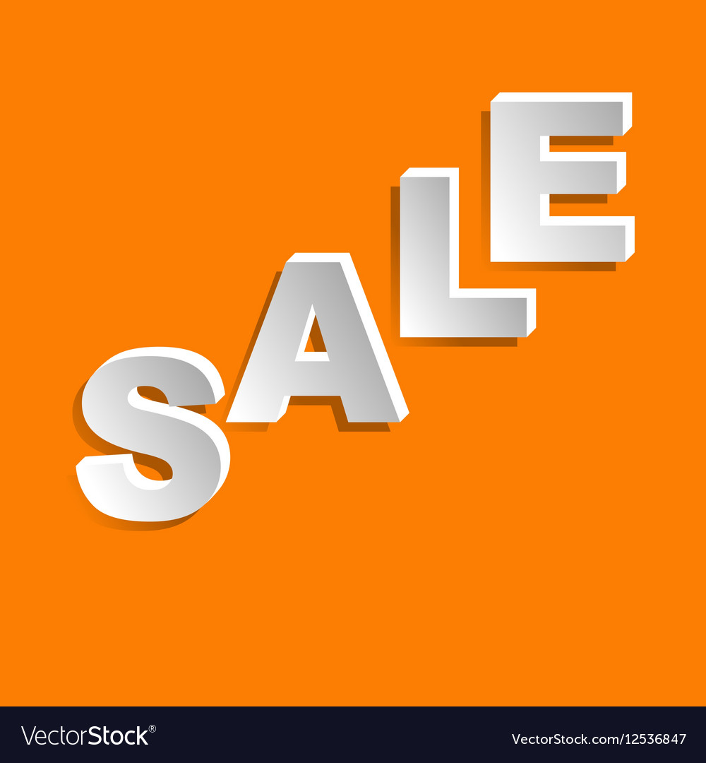 Sale lettering vector image