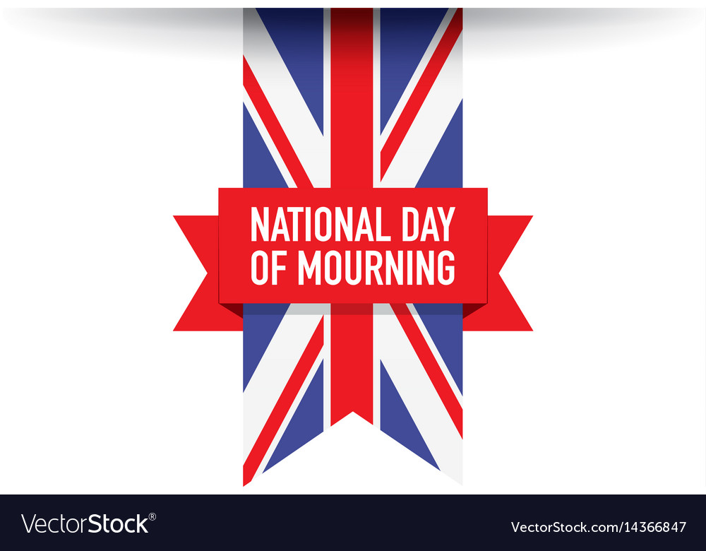 United kingdom national day of mourning flag vector image