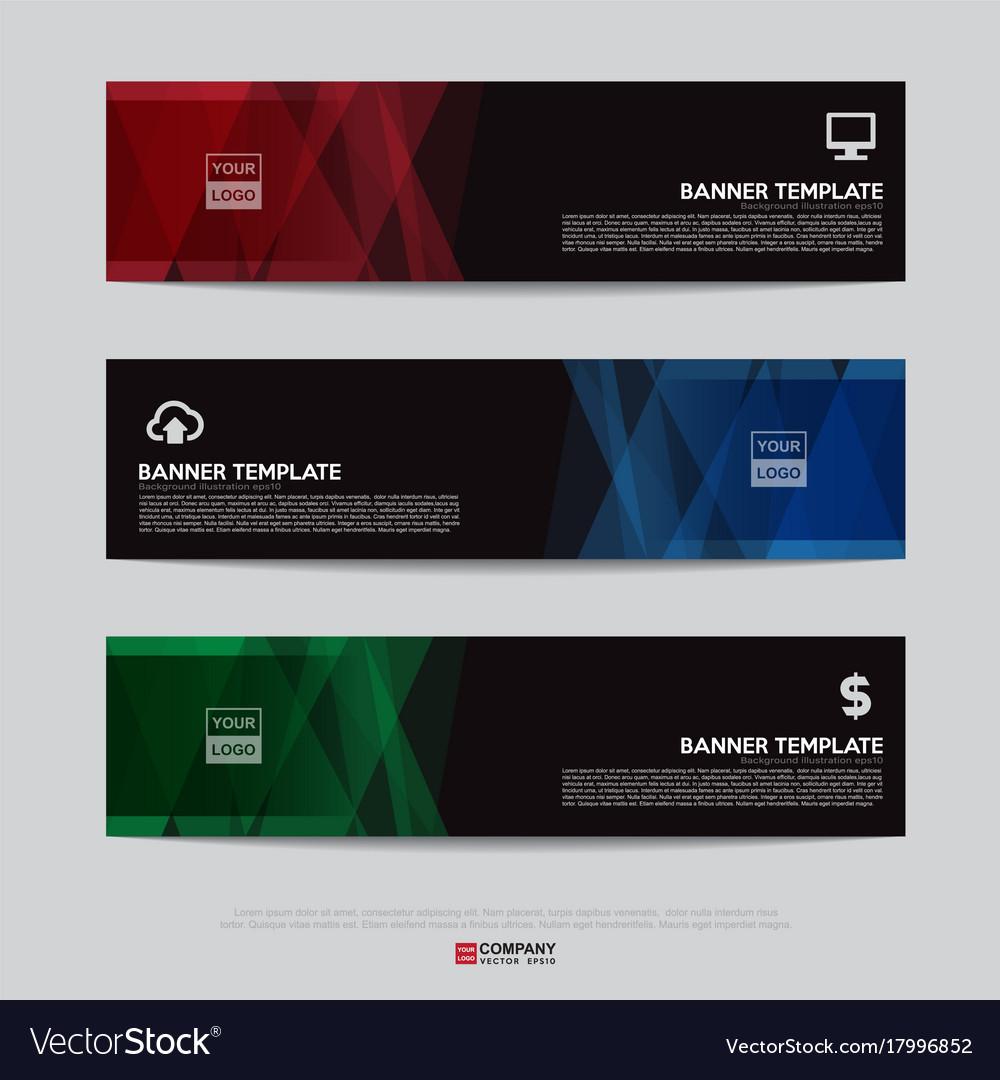 Banner design for business presentation