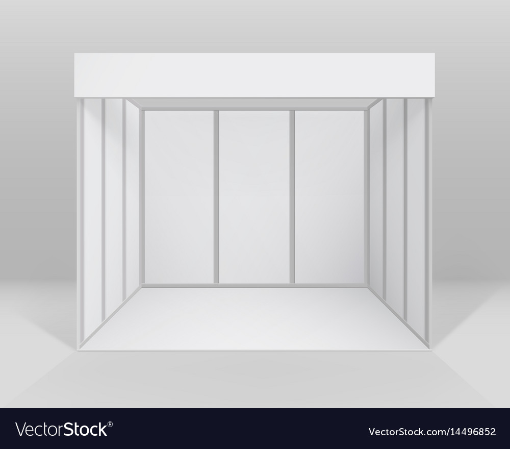 Exhibition Stand Design Presentation : Exhibition stand for presentation with background vector image
