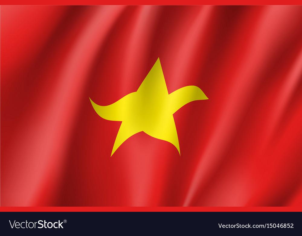 Flag of socialist republic of vietnam vector image