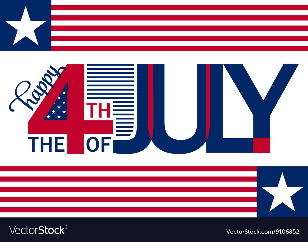 Happy independence day horizontal background july