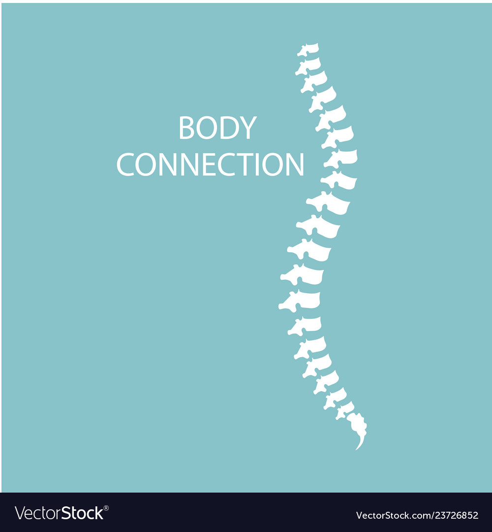 Health Care Abstract Growing Spine Bone Body Vector Image
