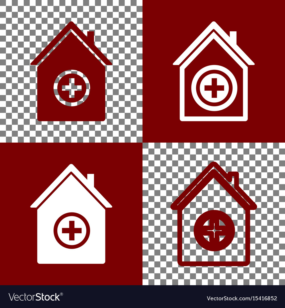 Hospital sign bordo and vector image