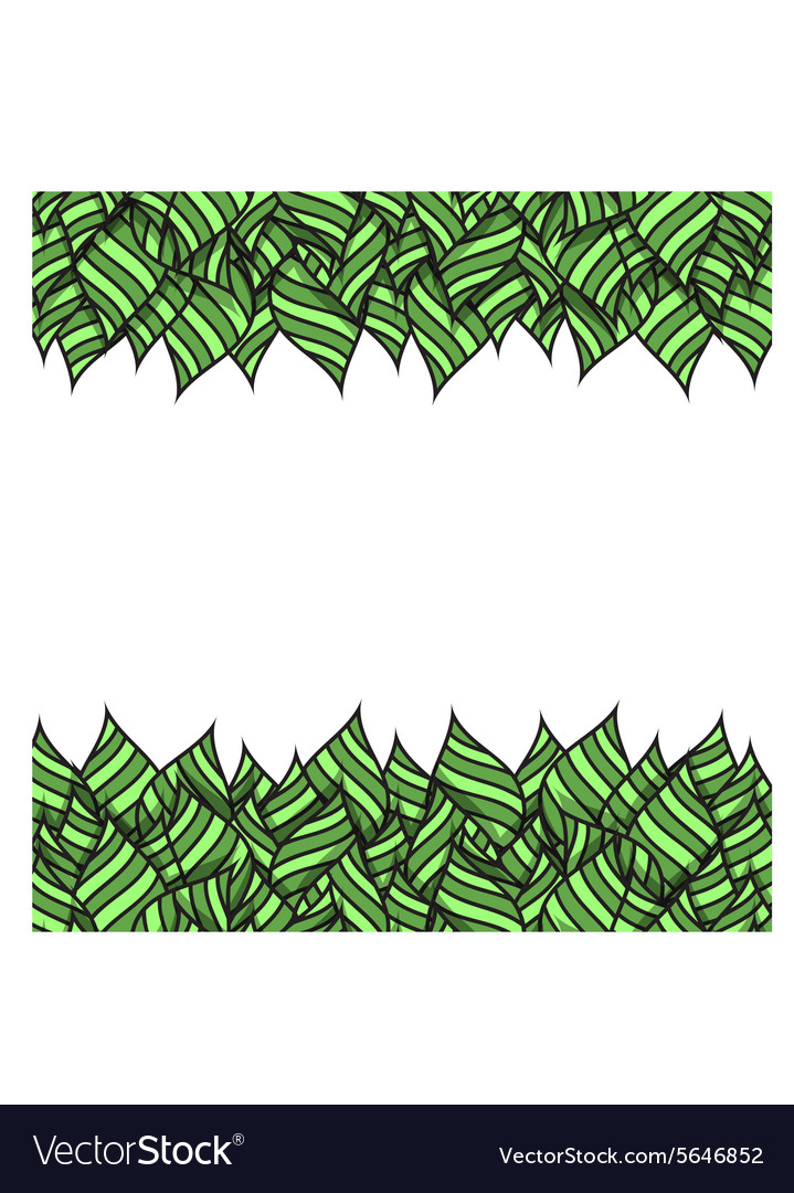 Template design with handmade leaves to print vector image