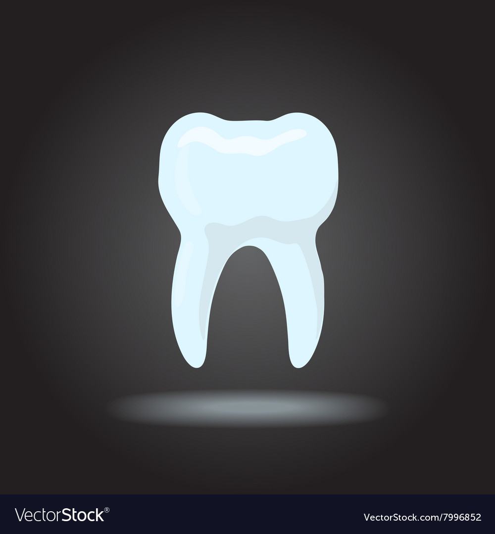 Tooth silhouette Icon dental healthy