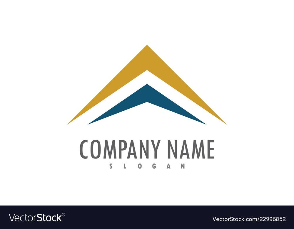 Triangle arrow up company logo