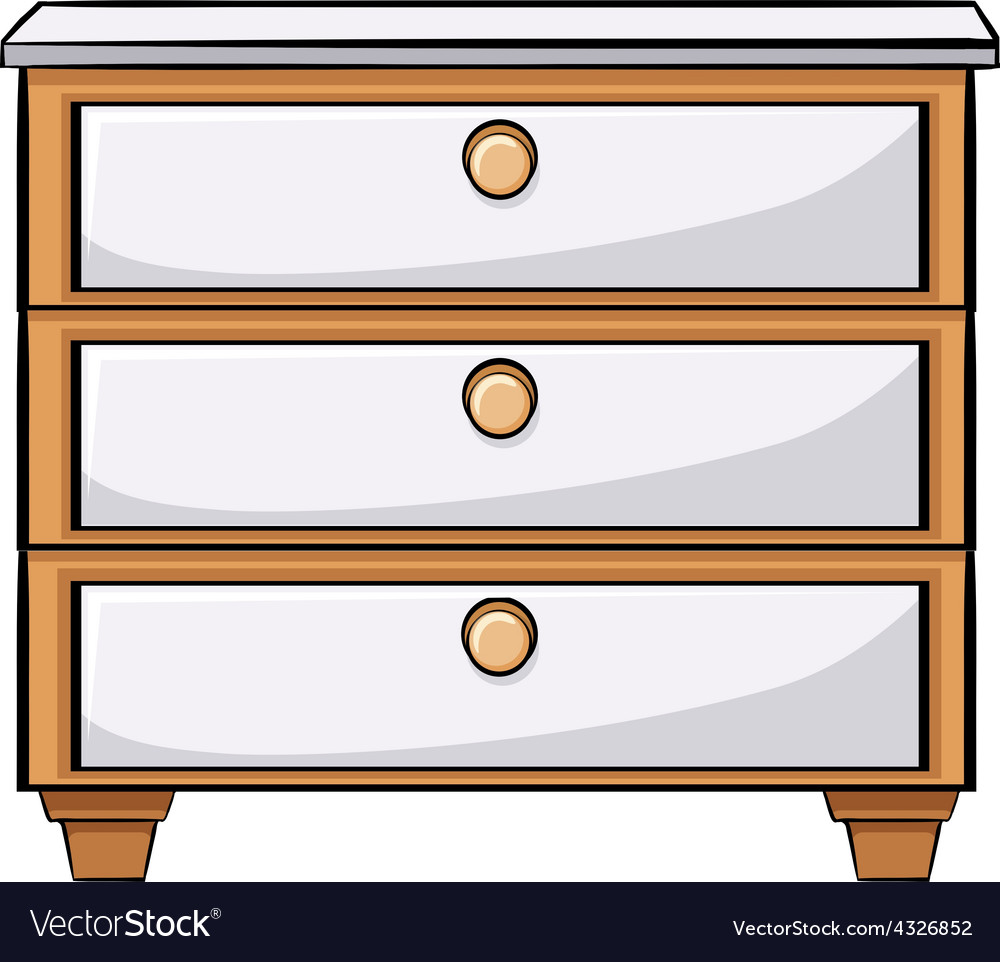 Wooden drawers vector image