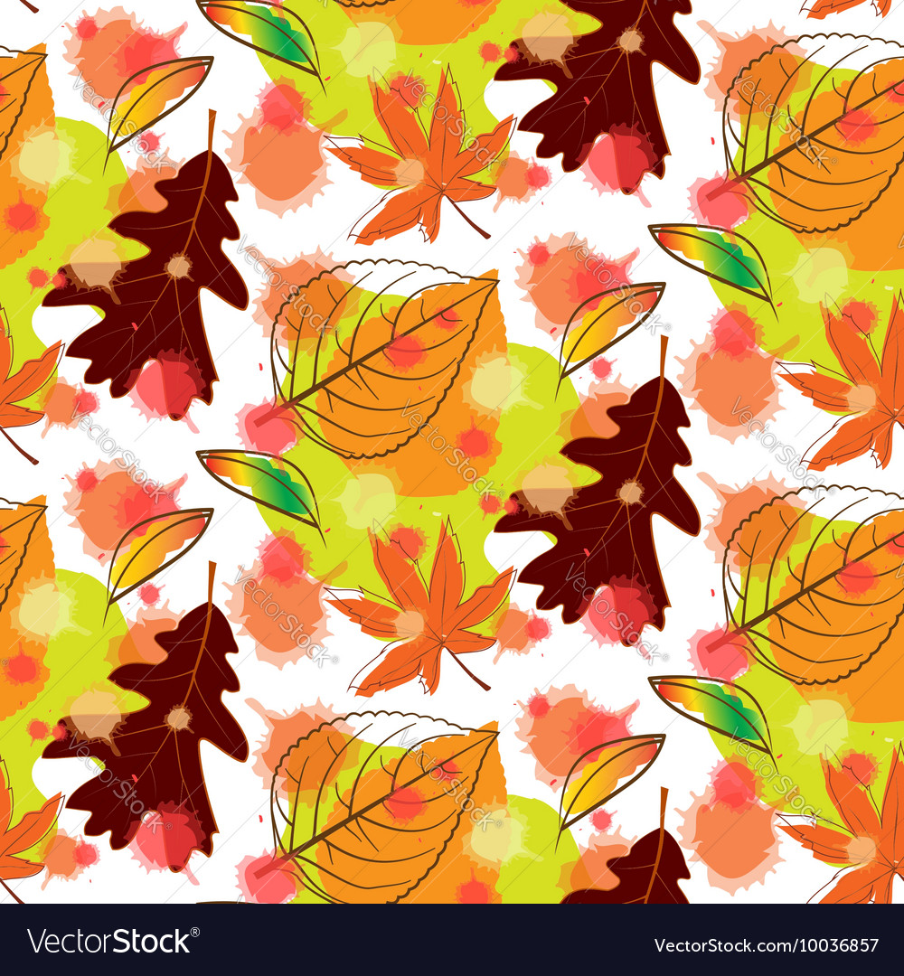 Autumn Leaf Seamless Pattern Background