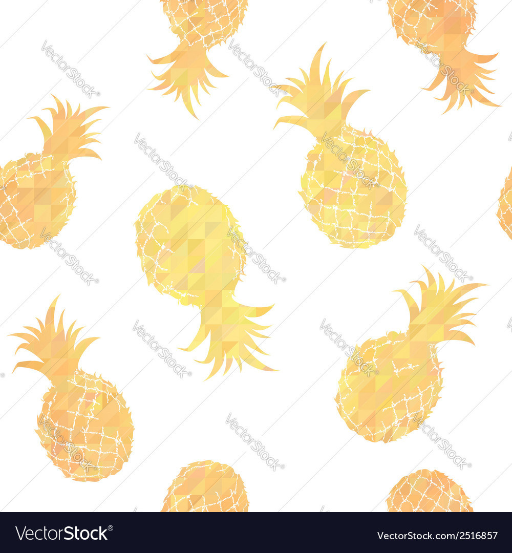 Geometric seamless pattern with pineapples