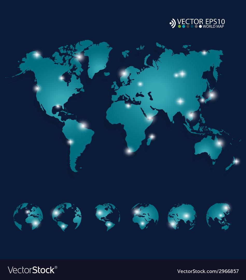 Modern world map design