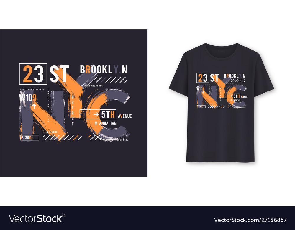New york city urban graphic t-shirt design