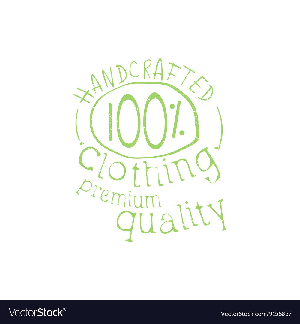 Premium Handcrafted Clothing Vintage Emblem