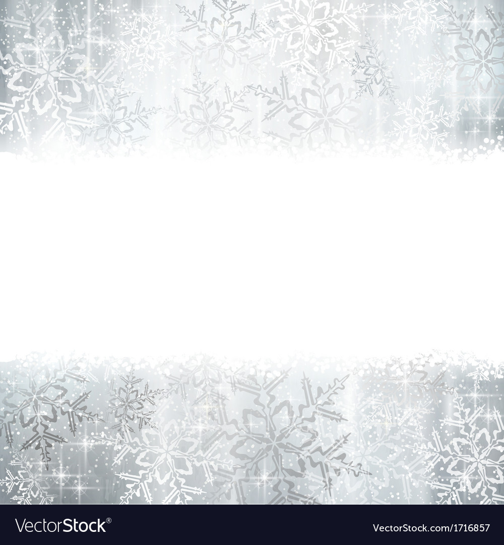 Silver Christmas winter background with snowflake