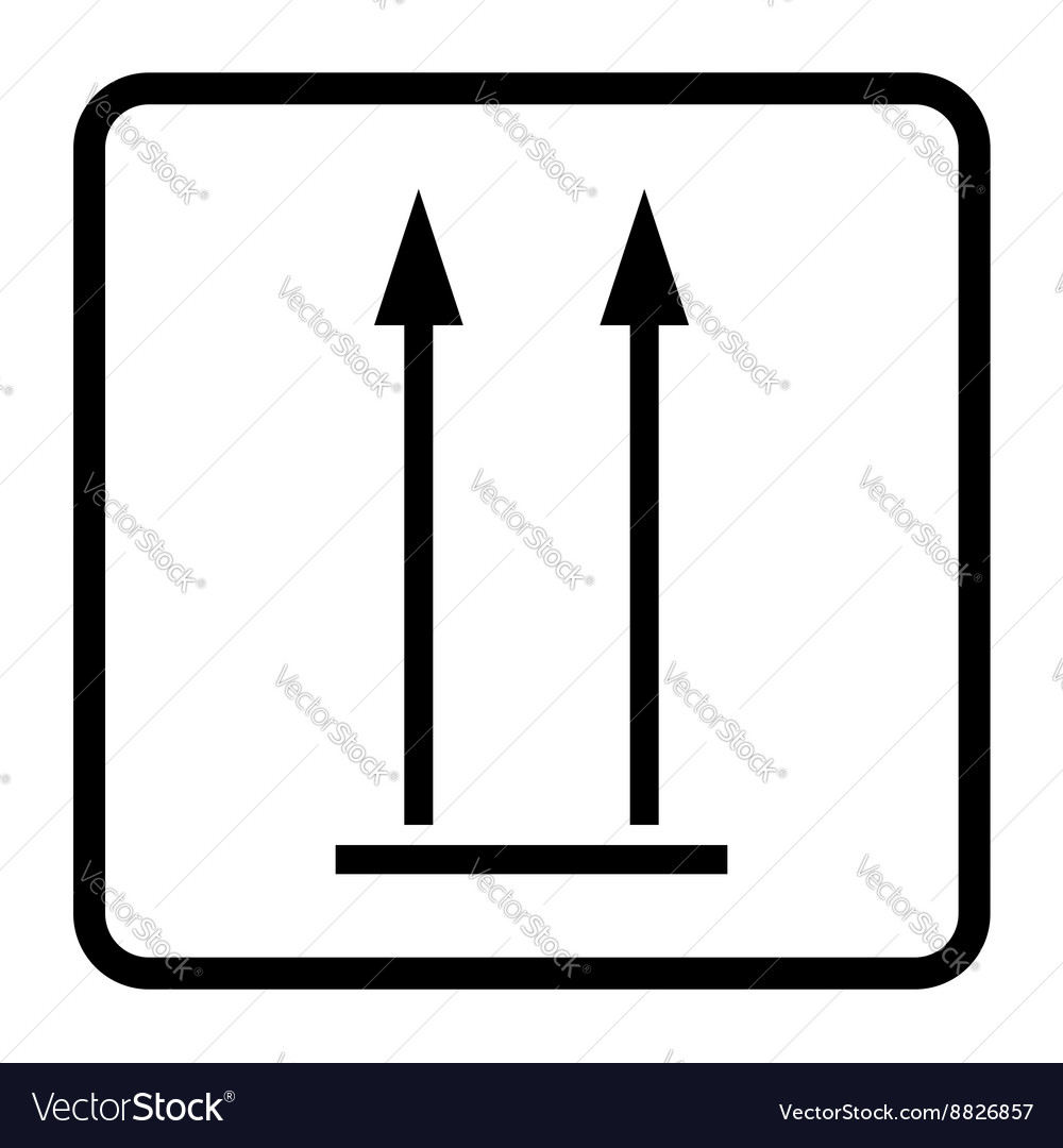 Up sign icon vector image