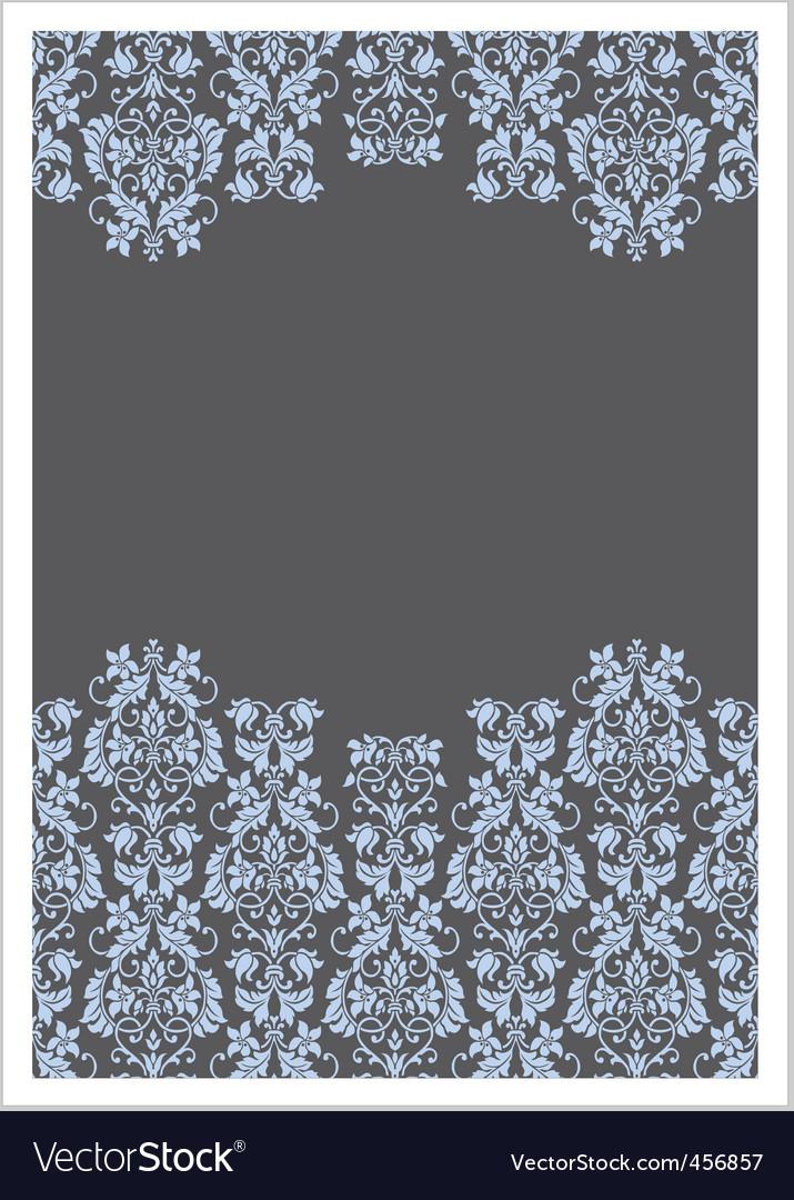Vector double Victorian border frame vector image
