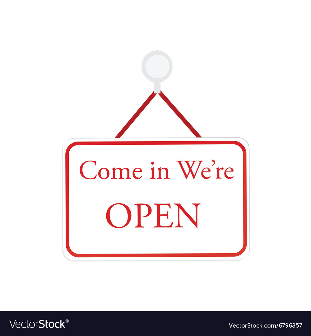 White open sign vector image