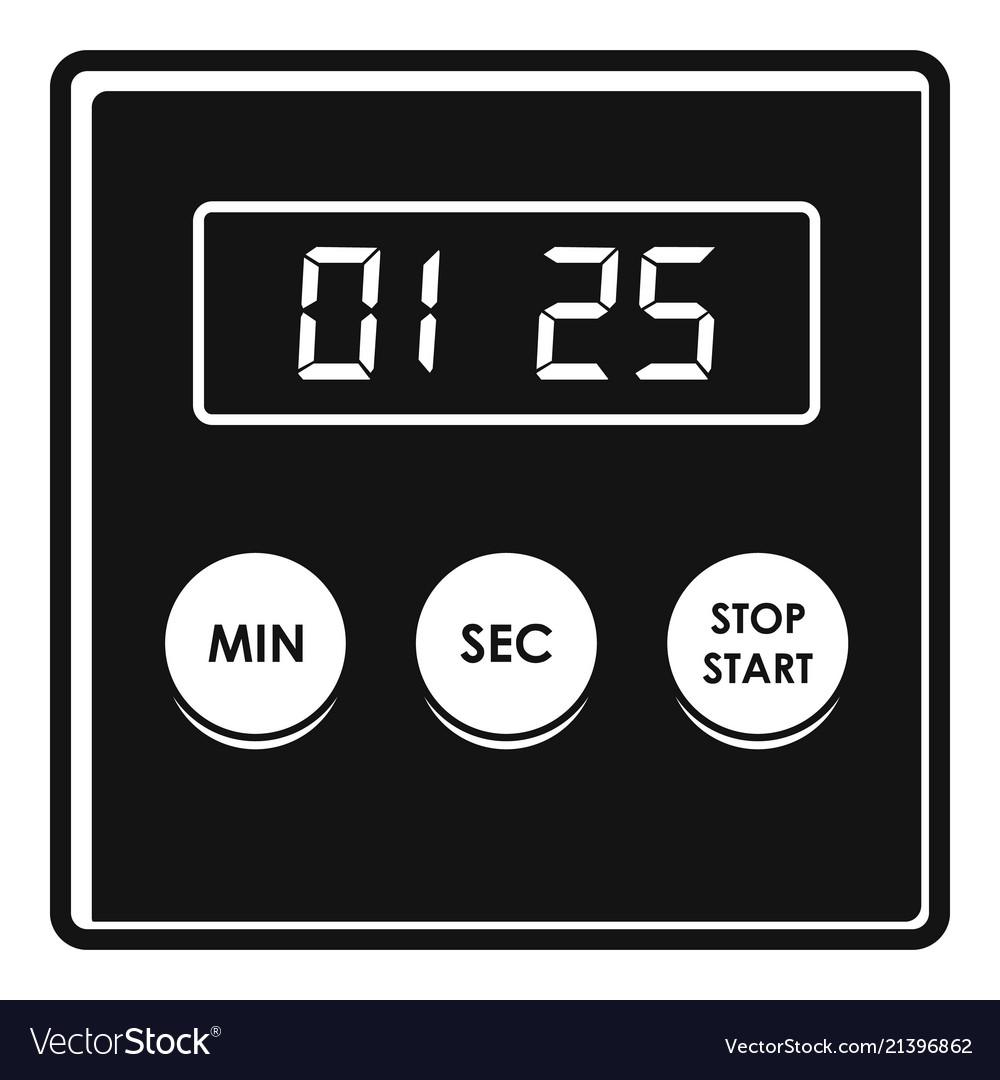 Alarm clock icon simple style