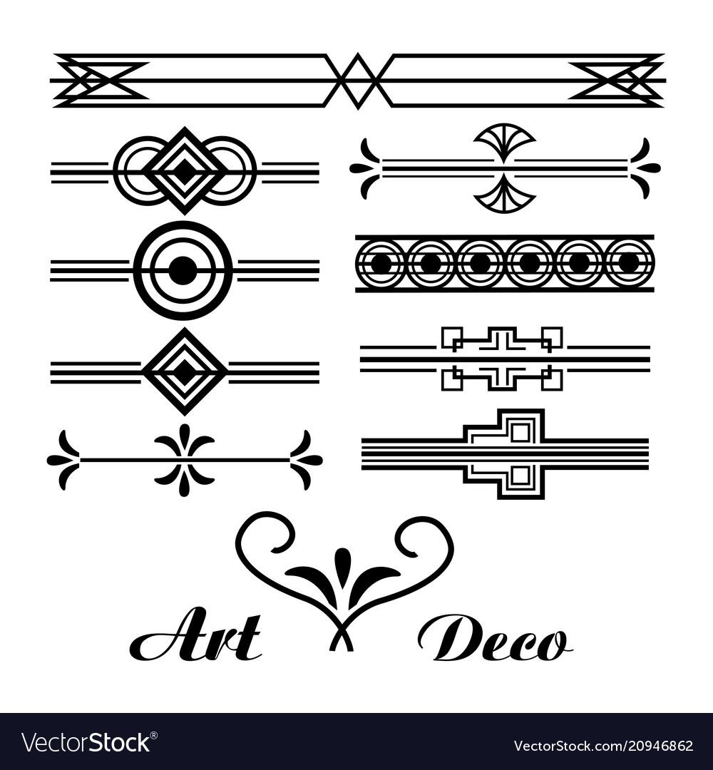 Deko Ornament.Art Deco Vignette Vintage Ornament Abstract