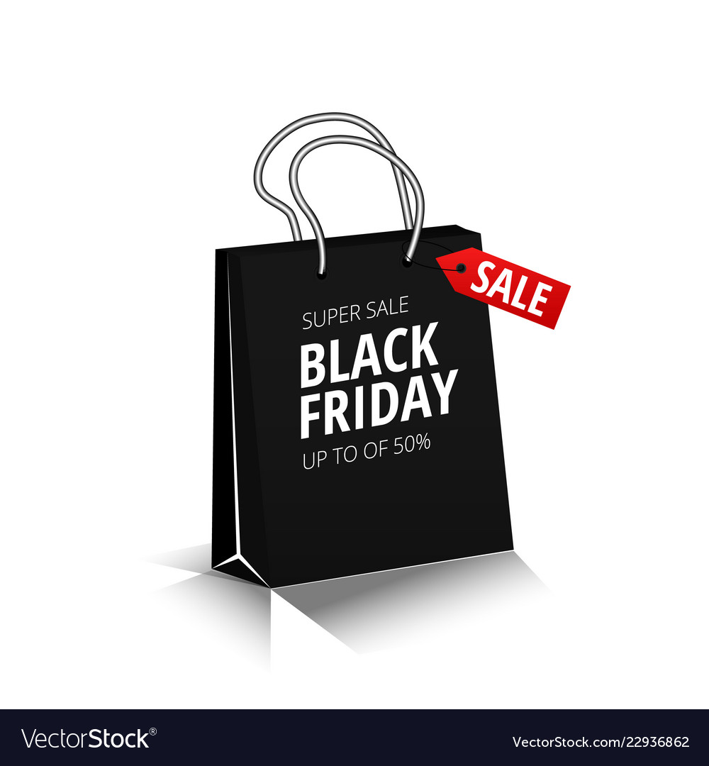 Black friday sale square banner in form of